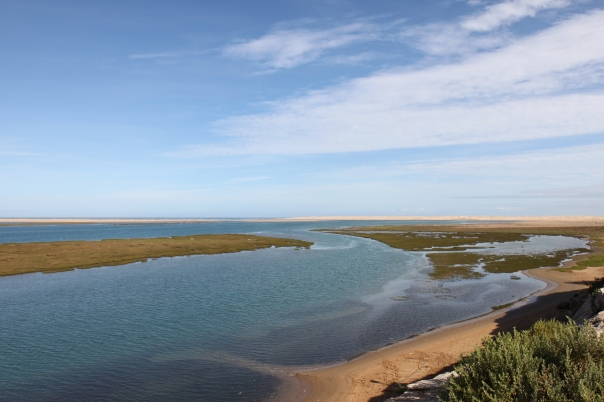 Panoramic view of the Naila Lagoon (Khenifiss National Park).