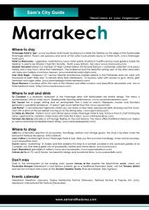 Marrakech - Sam's City Guide